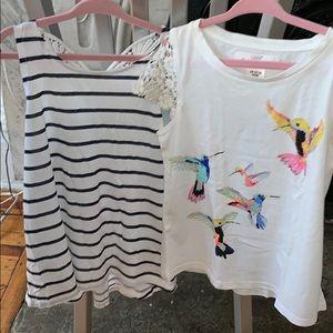 2 H&M shirts.   So cute size 6-8